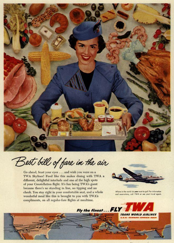 TWA ad, late 1950's