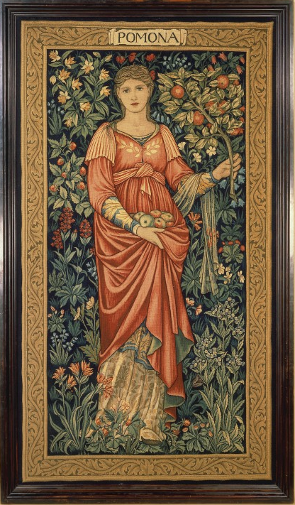 Pomona, Roman goddess of Abundance, as portrayed by William Morris about 1899